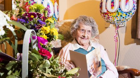 Iris Emmerson has celebrated her 100th birthday. Picture: Nick Butcher.