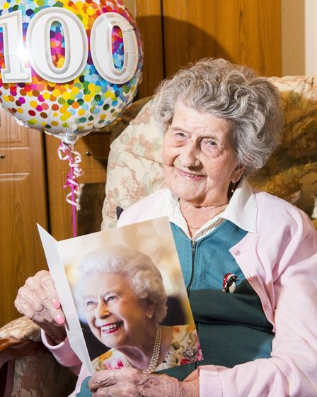 Iris Emmerson has elebrated her 100th birthday .Picture: Nick Butcher.