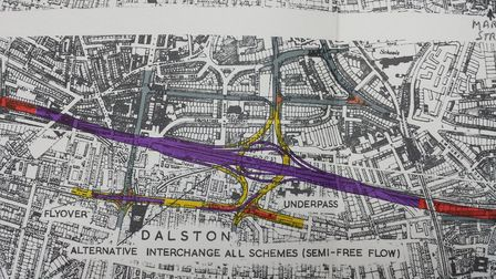Detailed plans were drawn up for the motorway box junction, which would have stretched from Ridley R