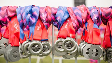 Runners will receive medals at the Hackney Half Marathon