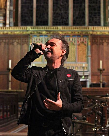 Owen Paul performs at the George Michael concert in St Michael's Church, Highgate. Picture: CHRISTIN