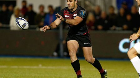 Saracens' Brad Barritt during a Champions Cup, pool two match (pic Paul Harding/PA)