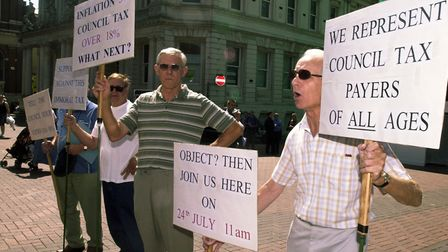 The council tax rise in 2003 sparked protests across the country, including in Ipswich. Picture: ARC