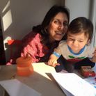 Nazanin and Gabriella drawing in happier days. Picture: RICHARD RATCLIFFE