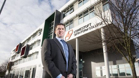 Lowestoft Sixth Form College principal David Gartland.Picture: Nick Butcher
