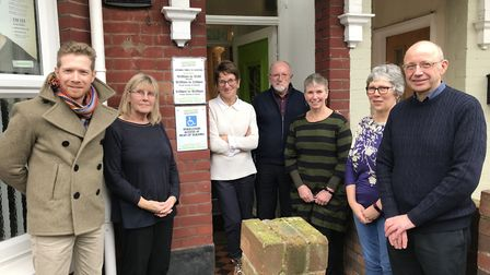Zeb Soanes (far left) was in Lowestoft to visit the Samaritans as they look to recruit more voluntee