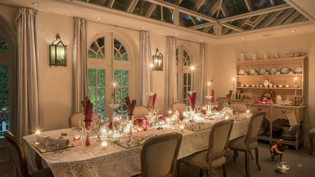 The kitchen's orangery can accomodate up to 24 guests.