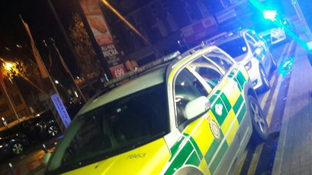 Emergency services at the scene in Stamford Hill. Picture: @999London