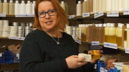 Anni Kriesche who founded the Funky Soap Shop