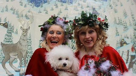 Miss Christmas, Miss Mistletoe and Snowflake the dog will be leading proceedings at the Maida Vale s