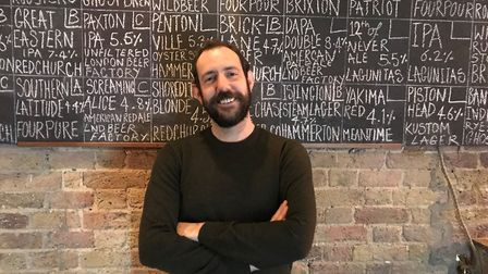 Ben Martin the new landlord of the Harringay Arms in Crouch Hill which has reopened after squatters
