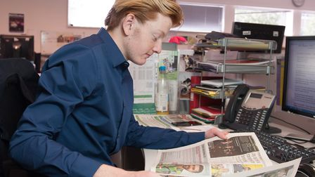 Jacob Ranson has just started as an apprentice reporter at Archant (photo: Arnaud Stephenson)