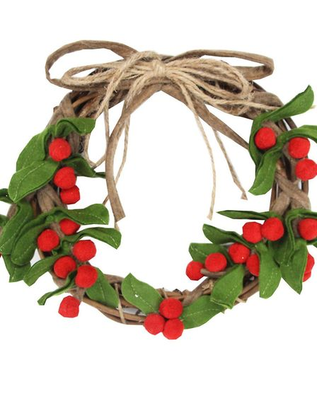 Return To Tradition: Wool Holly Twig wreath, The Contemporary Home