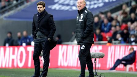 Tottenham Hotspur manager Mauricio Pochettino and West Bromwich Albion caretaker manager Gary Megson