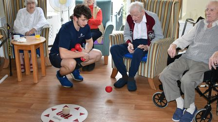 The first session of the Care Home Olympics took place yesterday at Kirkley Manor Care Home. Picture