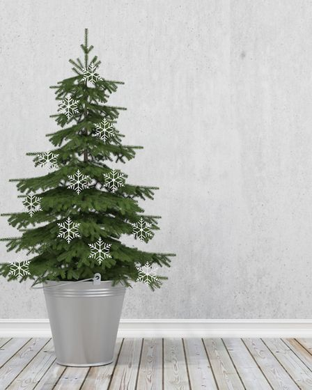 There has been a trend for artificial trees that are stripped out and minimalist, following a Scandi