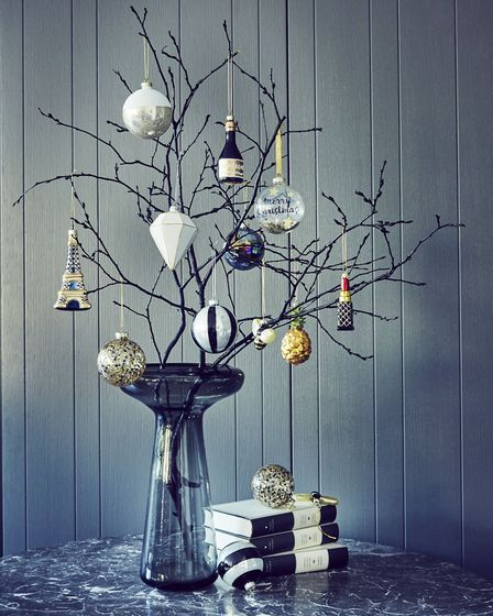 If you don't have room for a proper tree, there are other alternatives, such as long dogwood-style t