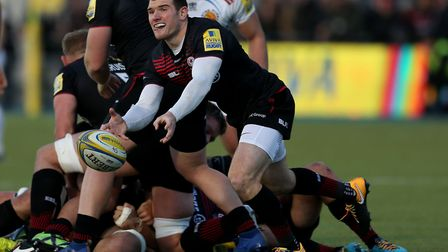 Saracens' Ben Spencer in action against Exeter (pic Paul Harding/PA)
