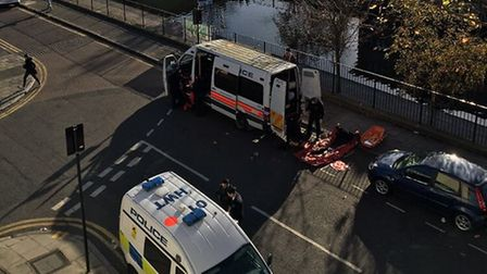 Police were called to reports of a body in the canal.
