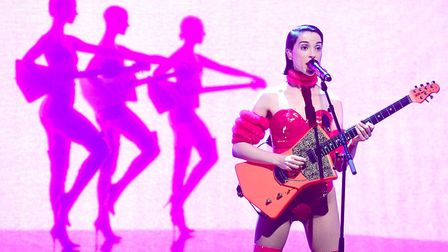 St Vincent promoting her new album Masseduction on the Graham Norton Show this month. Picture: Ian W