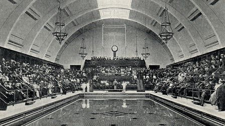The opening of Haggerston Baths in 1904, when the vice-chairman of the committee, Alderman EJ Wakeli