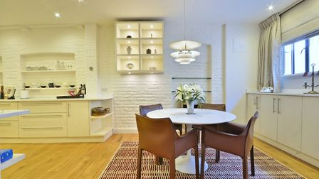 Suggs former home comprises a fully fitted and spacious kitchen
