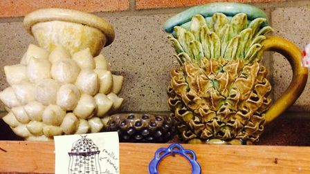 Kate Malone's very first pineapple pot, for which she has since become very well known for. Picture: