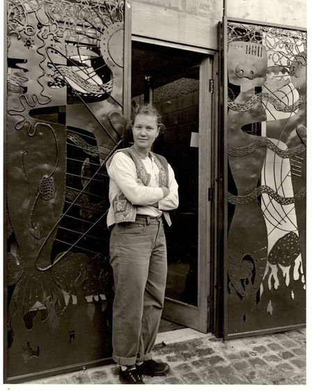 Kate Malone outside her studio in Culford Mews. Picture: Roger Birch