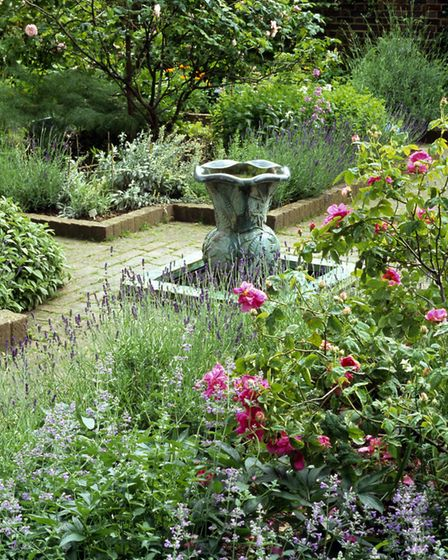 Kate's fountain at the Geffrye Museum's herb garden. Picture: Geffrye Museum