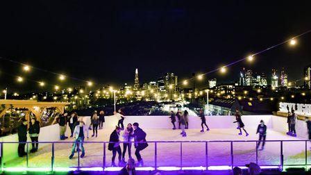 The ice rink at Winter Skylight. Picture: Steve Dunlop