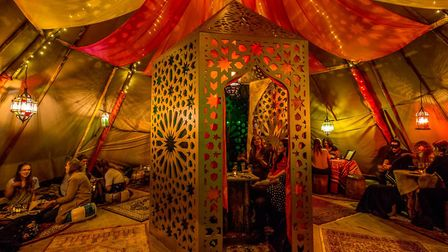 The Queen of Hoxton rooftop is transformed into a Moroccan Medina