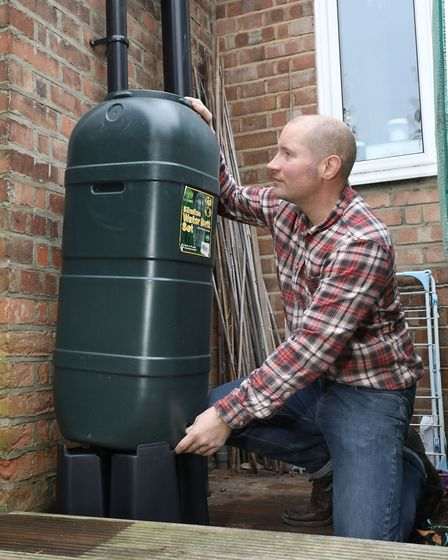 Water butts are easy to fit and if you have the space, you can pop one on each rainwater pipe of you