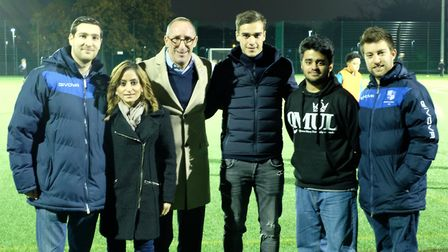 Tottenham Hotspur midfielder Harry Winks was present to open a new all-weather pitch that will be us