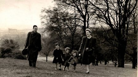Nora and John Murray with their children