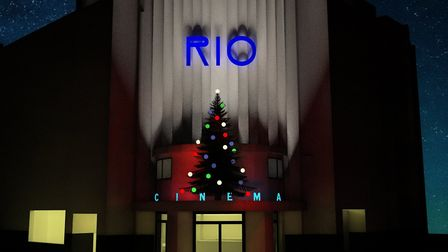 How the Rio expects its Christmas tree display to look tomorrow. Picture: Rio Cinema