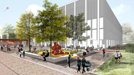 What the proposed new Britannia leisure centre might look like. Picture: Hackney Council