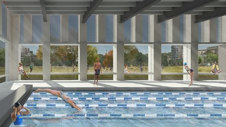An artist's impression of the 25m pool at the proposed new Britannia leisure centre. Picture: Hackne