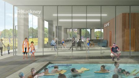 An artist's impression of the pool at the proposed new Britannia leisure centre. Picture: Hackney Co
