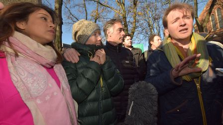Tulip Siddiq was questioned by Channel 4 crew at a rally in West Hampstead on Saturday