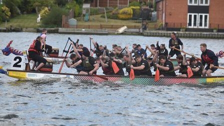 Action from last year's East Anglian Dragon Boat Festival in Oulton Broad. Picture: Sonya Duncan.