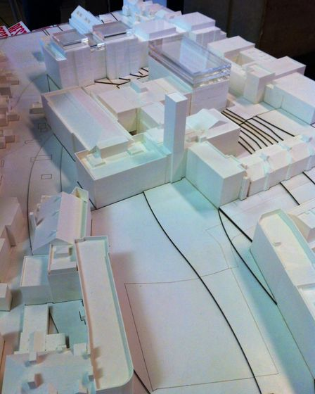 A model of the Hornsey Town Hall development. Picture: JON KING