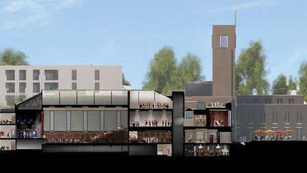 How part of the proposals for the Hornsey Town Hall development look. Picture: FAR EAST CONSORTIUM