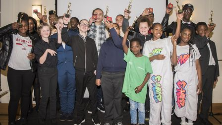Young people celebrate at the Hackney Youth Awards