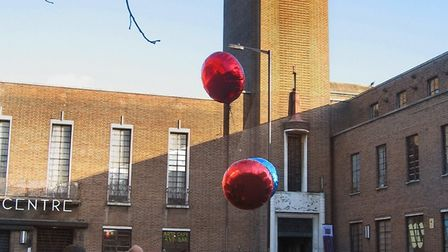 Residents flew balloons over Hornsey Town Hall on Saturday to show Crouch Enders and councillors how