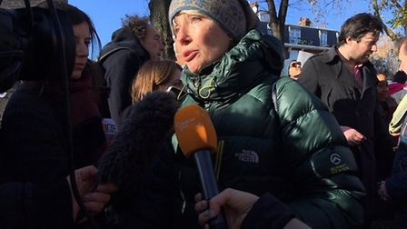Emma Thompson speaks at the Mothers March for Nazanin on Saturday, November 25. Picture: POLLY HANCO