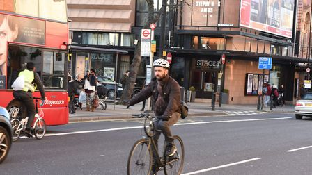 The Mare Street cycle track would link in with Quietways 2 and 13 at the town hall. Picture: Ken Mea
