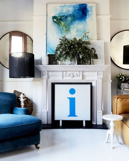 A stunning room at the home of Michael Minns where bold artwork makes a statement