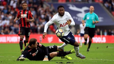 Georges-Kevin Nkoudou in action for Tottenham Hotspur at Wembley against AFC Bournemouth (pic: John