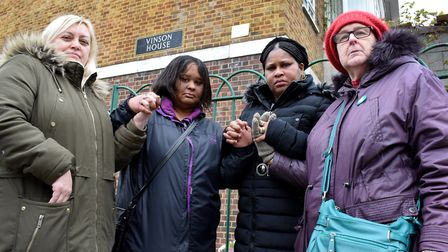 Women who have all lost sons or grandsons to knife crime, from left Michelle McPhilips, Philippa Add