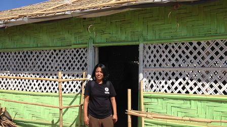 Oxfam aid worker Sultana Begum, from Crouch End, has been working in Bangladesh helping families fle